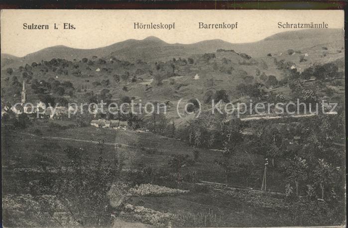 Sulzern mit Hoernleskopf Barrenkopf Schratzmaennle Feldpost Kat. Colmar