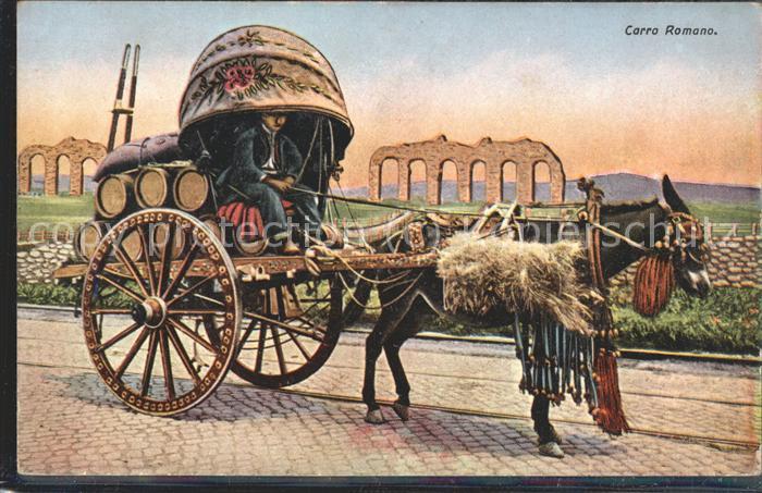 Italien Carro Romana Eselswagen geschmueckt Kat. Italien