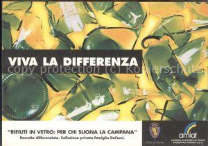 Italien Werbekarte Abfallwirtschaft Glasentsorgung Kat. Italien