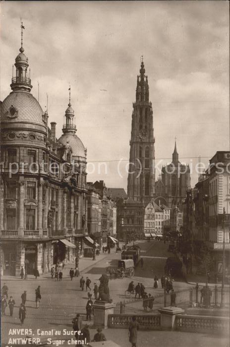 Anvers Antwerpen Canal au Sucre Kat.