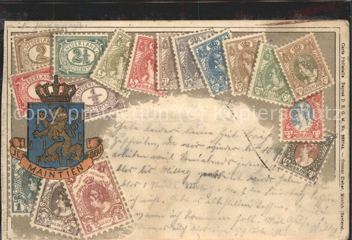 Niederlande Maintien Briefmarken Wappen Kat. Niederlande