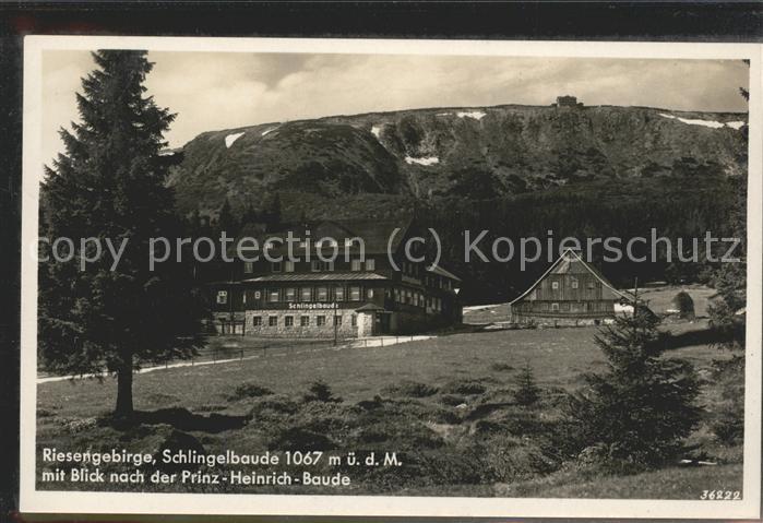 Riesengebirge Schlingelbaude Prinz Heinrich Baude Kat. Tschechische Republik