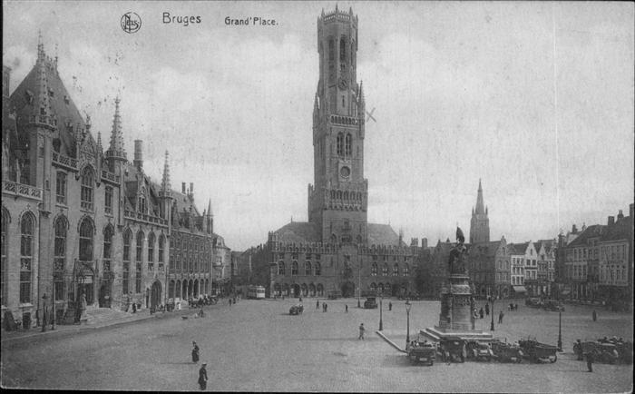 hw11573 Bruges Flandre Grand Place Kategorie.  Alte Ansichtskarten