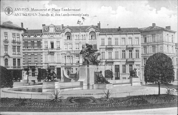 Anvers Antwerpen Monument Place Lambermont Kat.