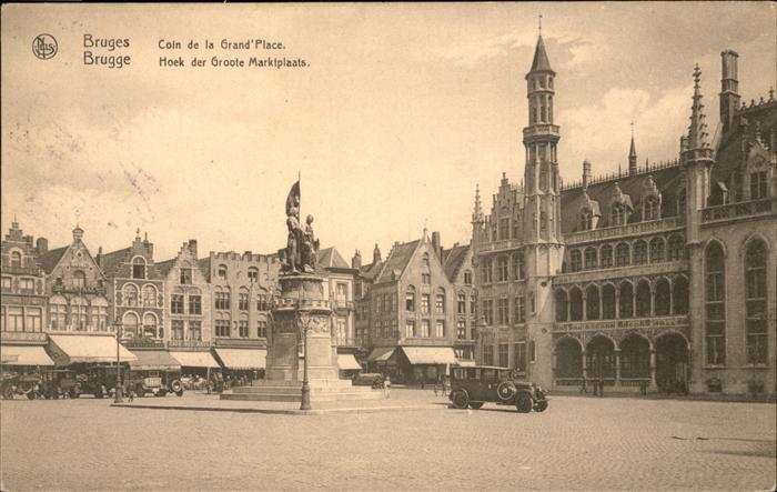 hw14982 Bruges Flandre Grand Place Kategorie.  Alte Ansichtskarten