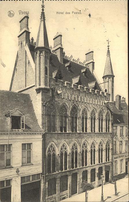 Ypres Hotel des Postes Kat.