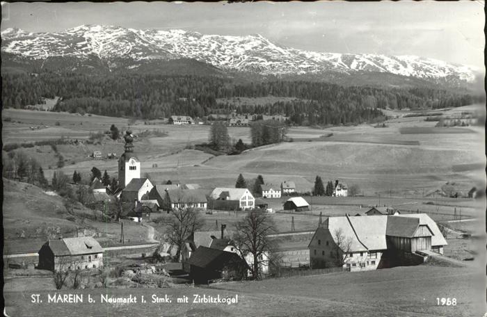 kk12338 St Marein bei Neumarkt Steiermark Panorama mit Zirbitzkogel Kategorie.  Alte Ansichtskarten