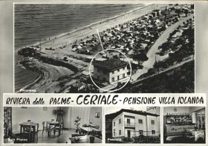 Ceriale Liguria Panorama Strand Pensione Villa Iolanda