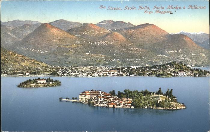 Stresa Lago Maggiore Panorama Pallanza Isola Bella Isola Madre