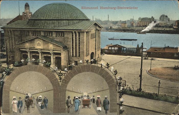 Steinwerder Hamburg Elbtunnel Eingang
