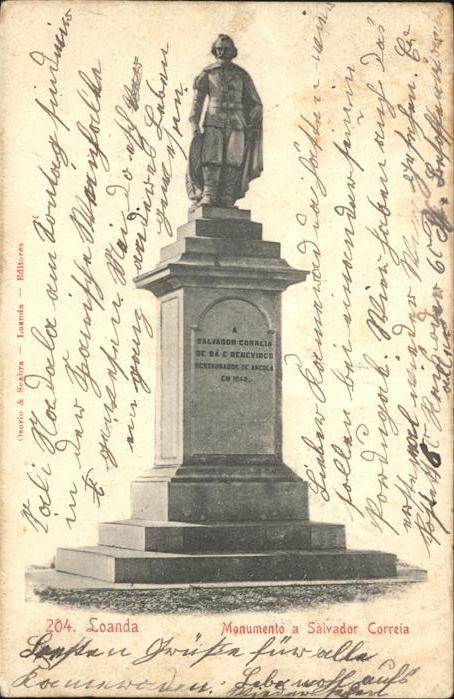 Loanda Luanda Monumento a Salvador Correia Denkmal Skulptur