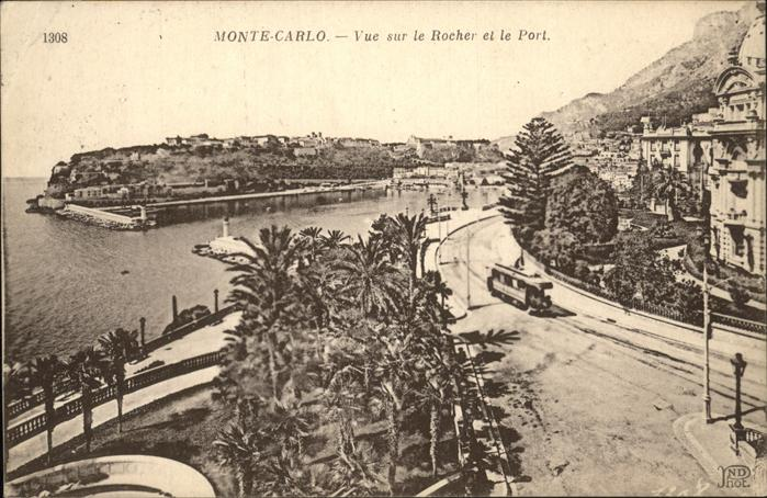 kk31654 Monte-Carlo Vue sur le Rocher et le Port Kategorie. Monte-Carlo Alte Ansichtskarten