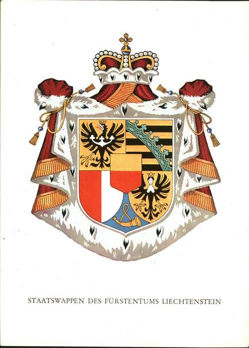Liechtenstein  Staatswappen Kat. Liechtenstein