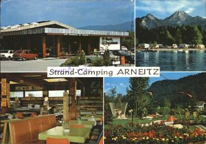Faak am See Finkenstein Strand Camping Arneitz Minigolf Kat. Finkenstein am Faaker See