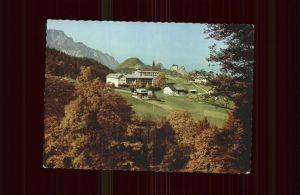 Duerrnberg Hallein Kuranstalt St. Josef Sanatorium Herbststimmung Kat. Hallein