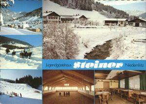 Niedernfritz Jugendheim Gasthof Steiner Wintersportplatz Reitschule Pferd Kat. Huettau