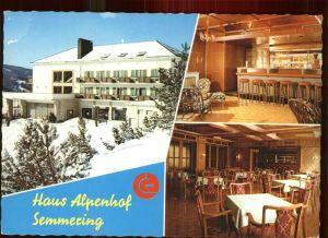 Steinhaus am Semmering Haus Alpenhof Ausbildung Erholungszentrum Creditanstalt Bankverein