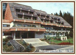 Faak am See Finkenstein Bundessportheim Faaker See Kat. Finkenstein am Faaker See