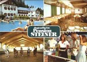 Niedernfritz Jugendheim Pension Steiner Schwimmbad Reitschule Pferd Kat. Huettau