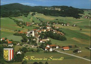 Oesterreich St. Roman im Sauwald Fliegeraufnahme Wappen Kat. Oesterreich