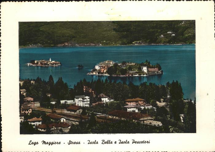 Lago Maggiore Stresa Isola Bella e Isola Pescatori Kat. Italien