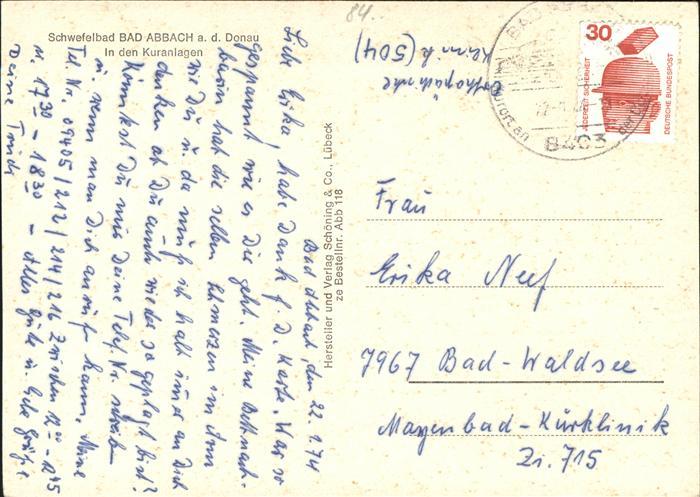 Bad Ansbach bad ansbach donau in den kuranlagen nr kk54948 oldthing