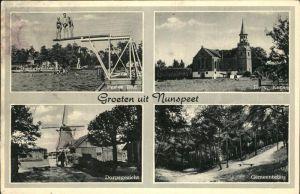 Niederlande Groeten uit Nunspeet mit Her.Kerk u.Pestes Bad Kat. Niederlande