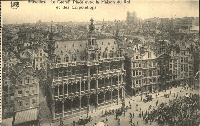 Bruessel Bruxelles La Grand Place avec la Maison du Roi Kat.