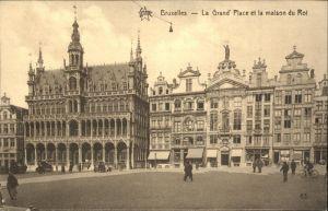 Bruessel Bruxelles La Grand Place et la maison du Roi Kat.