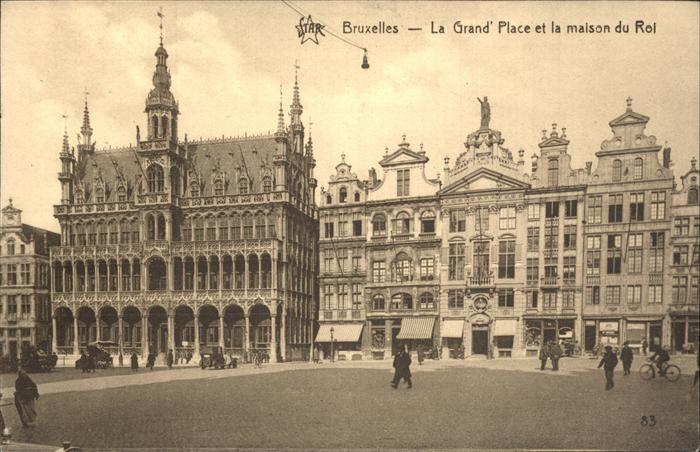 Bruessel Bruxelles La Grand`Place et la maison du Roi Kat.