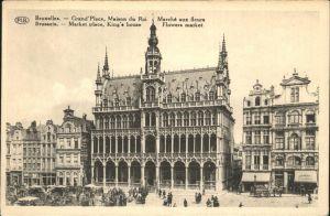 Bruessel Bruxelles Grand`Place Maison du Roi Kat.