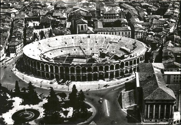 Verona Italia Panorama Anfiteatro veduta aerea Amphitheater Kat.