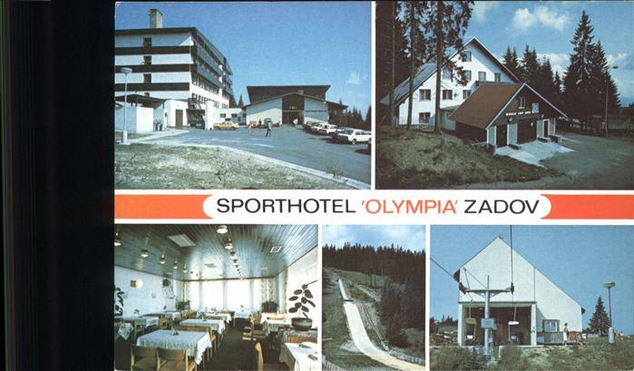 Stachy Susice Okres Pachatice Sporthotel Olympia Zadov Restaurant Skischanze Sessellift Kat. Tschechische Republik