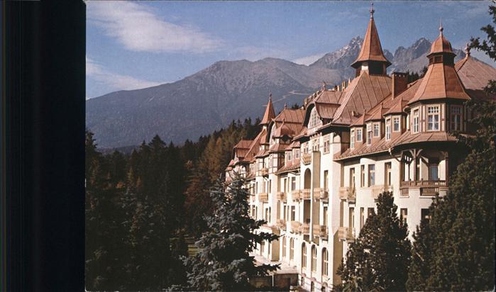 Tatranska Lomnica Grand Hotel Praha Vysoke Tatry Hohe Tatra Kat. Tschechische Republik