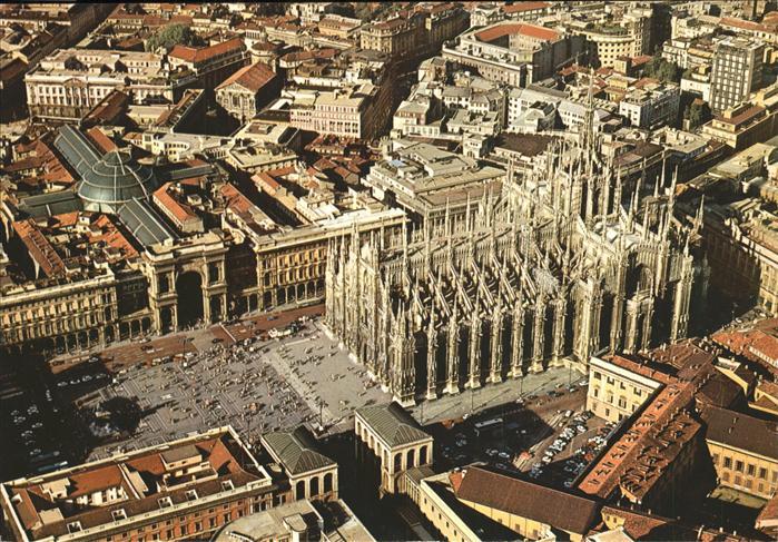 Milano Il Duomo dall aero Kat. Italien