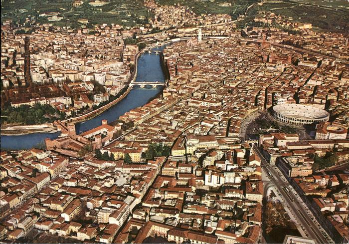 Verona Italia Veduta aerea Kat.