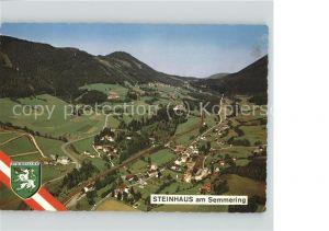 Steinhaus am Semmering Panorama Semmeringpass und Pinkenkogel Wappen Fliegeraufnahme