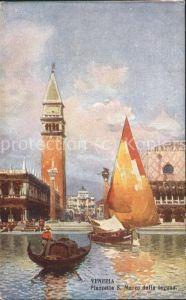 Venezia Venedig Piazetta S.Marco dalla laguna Kat.