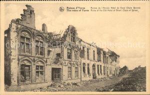 Ypres Ypern West Vlaanderen Ruines d Ypres Ruines de Ancien Hotel de Grand Kat.