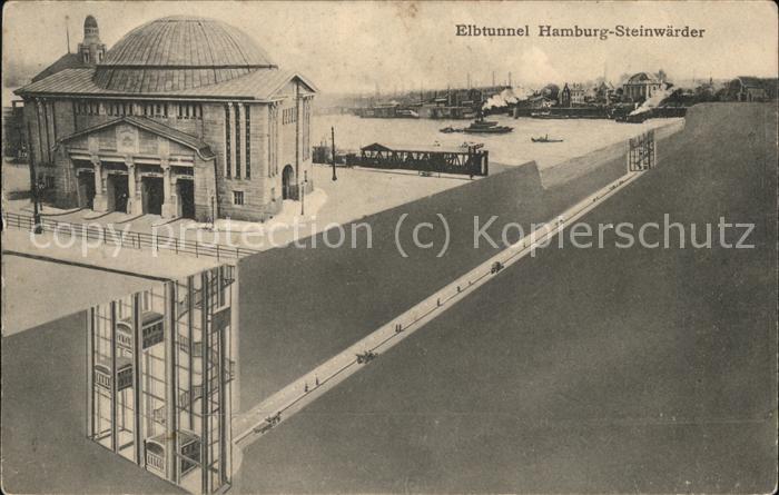 Steinwerder Hamburg Elbtunnel Kat. Hamburg