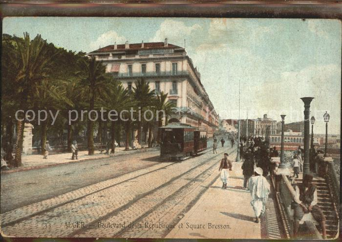 Alger Algerien Boulevard de la Republique el Square Bresson / Algier Algerien /