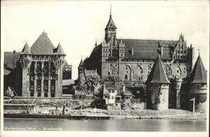Marienburg Westpreussen Die Marienburg Westseite an der Nogat