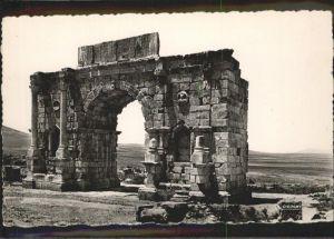 Volubilis Arc de Triomphe Triumphbogen / Marokko /