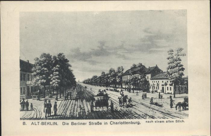 Charlottenburg Alt-Berlin Berliner Strasse / Berlin /Berlin Stadtkreis
