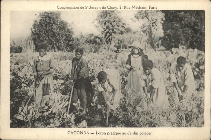 Caconda Angola Lecon pratique au Jardin potager / Angola /
