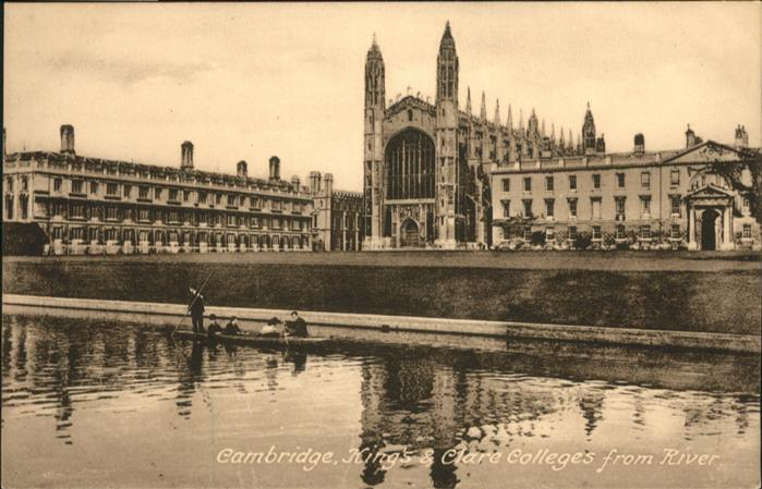Cambridge Cambridgeshire Kings Clare Colleges River / Cambridge /Cambridgeshire CC