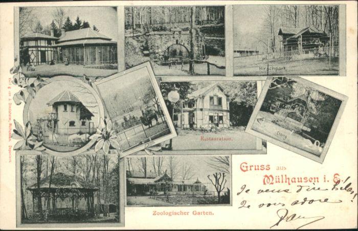 Muelhausen Elsass Restaurant Zoologischer Garten Hirschpark X Nr
