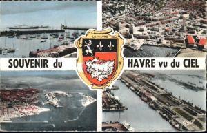 ws76296 Le Havre Seine-Maritime Wappen Hafen * Kategorie. Le Havre Alte Ansichtskarten
