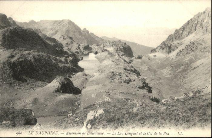 Dauphine Ascension Belledonne Lac Longuet Col de la Pra *