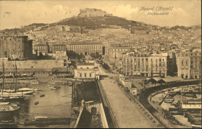 ws88725 Neapel Napoli Neapel Napoli Hafen x Kategorie. Italien Alte Ansichtskarten